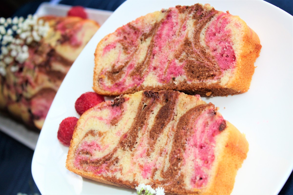 Chocolate Raspberry Marble Loaf