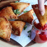 Quick Indian Samosas using Tortilla