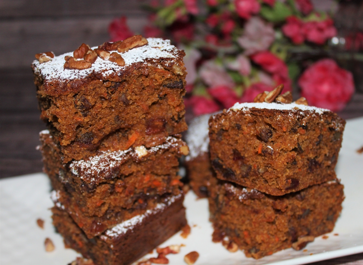 Carrot, Date and Pecan Cake